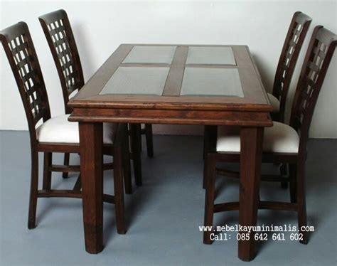 Kursi Busa Minimalis set kursi makan busa minimalis kepang mebel kayu minimalis