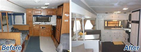 16 year jayco travel trailer gets interior decor makeover