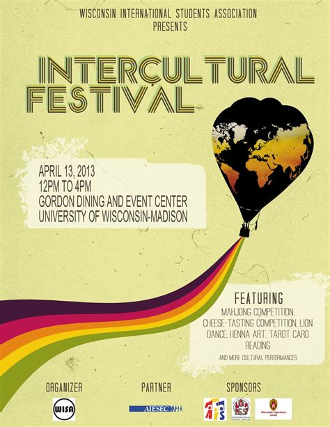 Invitation Letter Format For Cultural Event wisconsin international students association invitation to intercultural festival icf