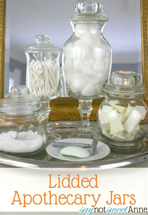 what do you put in a wedding bathroom basket how to make upscale apothecary jars tutorial