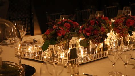 elegant dinner settings elegant candlelight dinner table setting at reception