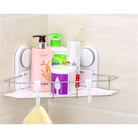 Plastic Bathroom Shelves Aliexpress Buy Suction Bathroom Shelf New Unique Plastic And Stainless Steel Single Tier