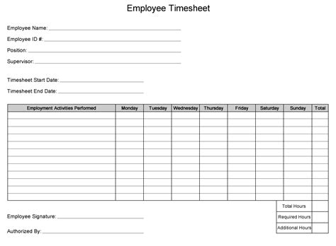 Time Card Template Free Employee by Template For Parents Sign In Out Time Sheet