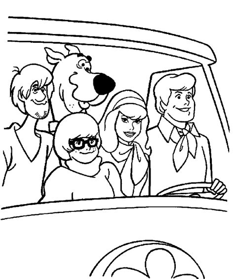 coloring pages scooby doo free free scooby doo gang coloring pages