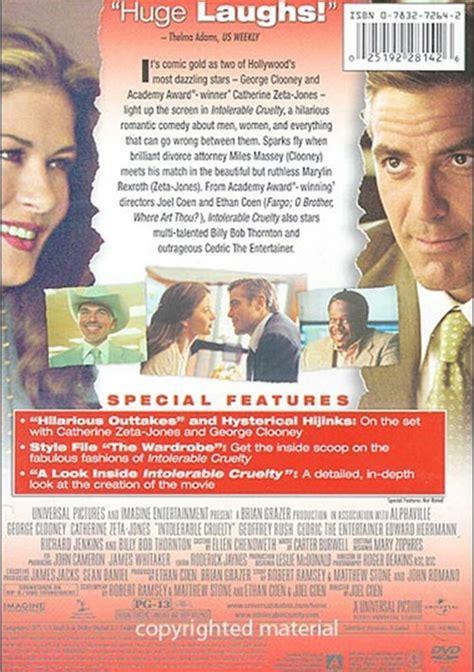Intorerable Cruelty Dvd Region 3 intolerable cruelty widescreen dvd 2003 dvd empire
