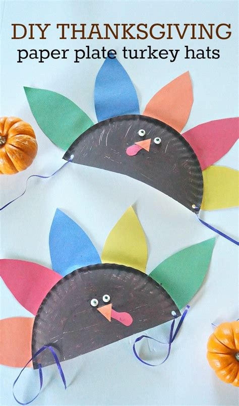 Make Your Own Paper Hat - thanksgiving crafts for make your own paper plate