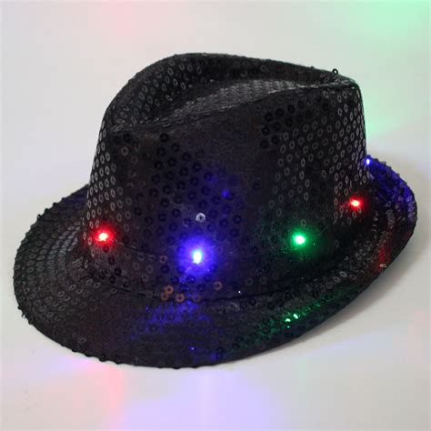 Disco Hip Hop Caps Led Light Up