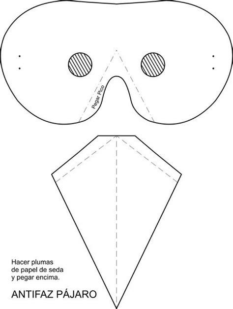 como hacer una careta de pollito mascara pajaro imagui disfraz pajaro pinterest