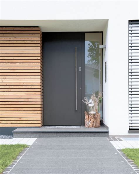metal front doors with glass 26 modern front door designs for a stylish entry shelterness