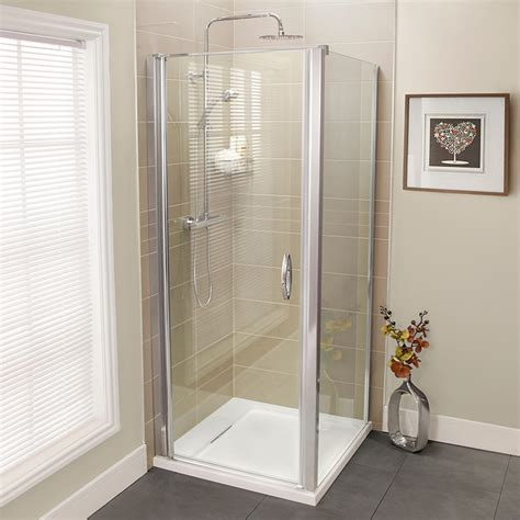 Aquafloe Iris 8mm 800 Hinged Shower Enclosure Hinged Door Shower Enclosures