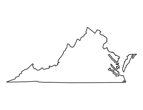 virgina shapes virginia pattern use the printable outline for crafts