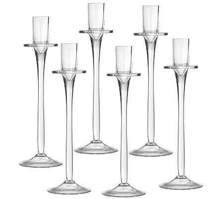 kerzenhalter für teelichter aus glas kerzenhalter aus glas f 252 r tafelkerzen h 246 he ca 25 5cm 6tlg