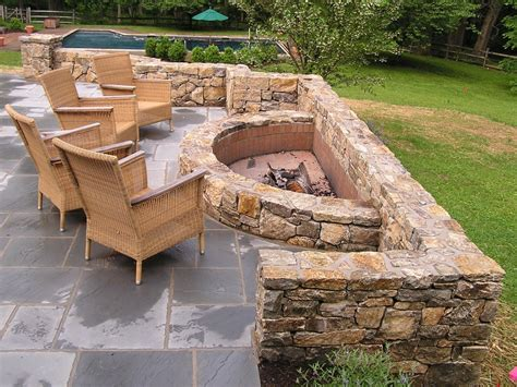 outdoor fire pit design new jersey stonetown construction