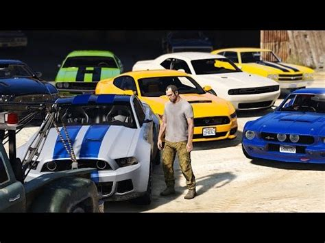 gta 5 real car mods my car collection youtube gta 5 trevors new muscle car collection real car mods