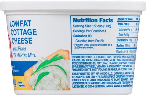 fiber one cottage cheese free cottage cheese nutrition facts nutrition