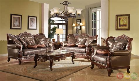 traditional living room sets rhapsody traditional dark wood formal living room sets