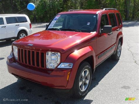 2008 Inferno Red Crystal Pearl Jeep Liberty Sport