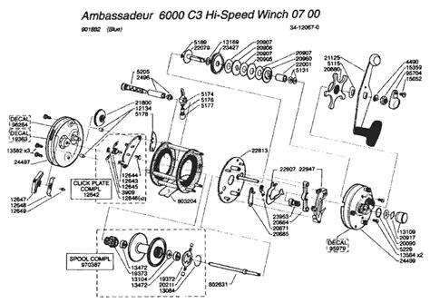abu garcia reel parts diagram abu garcia 6000 schematic abu garcia 5500 c3 parts list