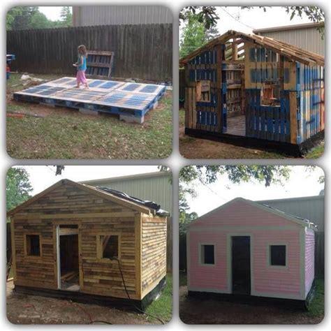 diy backyard playhouse pallet playhouse diy pallet playhouse great ideas