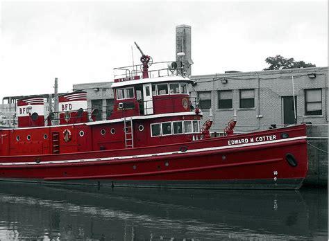 j r boats fire boat cotter photograph by john carncross