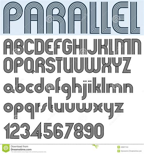 20973 Bold Retro Pattern S M L parallel stripes retro style font vector alphabet