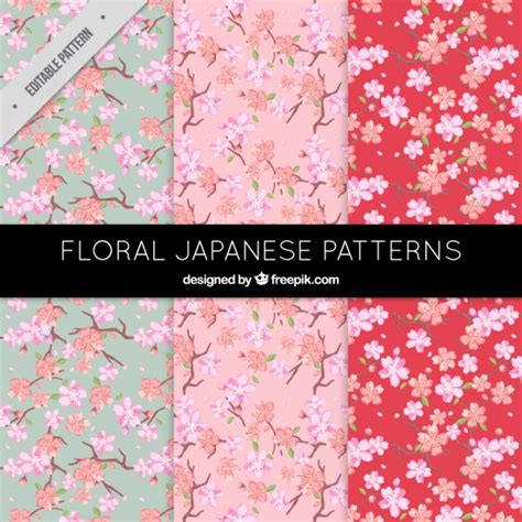 japanese pattern ai download beautiful floral patterns in japanese style vector free