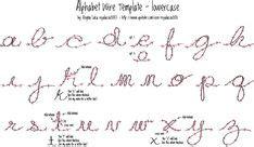 alphabet wire template uppercase photo    print