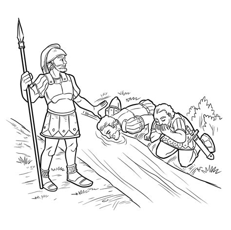 coloring page for gideon free coloring pages of gideon bible story