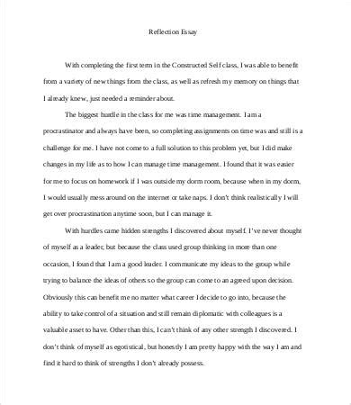 reflective essay template 8 free word pdf documents