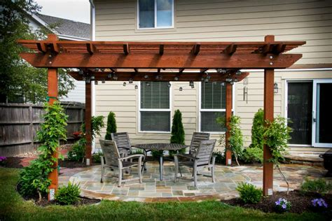 gallery for gt flagstone patio with pergola
