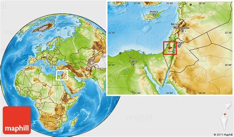 where is jerusalem on the map physical location map of jerusalem