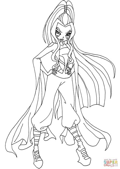 coloring pages winx club online darcy winx club coloring page free printable coloring pages