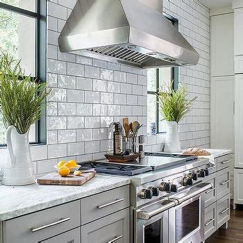 subway tiles kitchen cozy white tile accent wall design