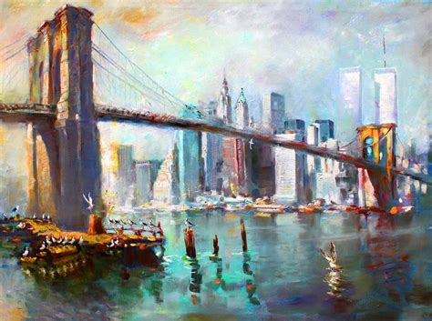 acrylic painting new york 100 best acrylic paintings images on