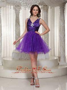 Asiyah Layer Dress Soft Purple custom made v neck purple organza homecoming dress with