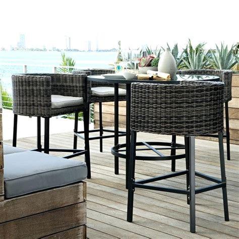 Outdoor Bistro Table Set Bar Height Small Outdoor Bar Table Dining Room Stylish Versatile Patio Furniture To Fit Any Size Deck In