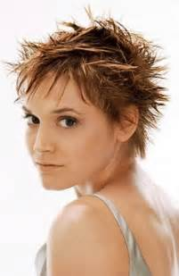 Short spiky hairstyles with bangs short