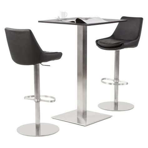 Tabouret Bar Cuir Noir by Tabouret De Bar Design Ambre En Simili Cuir Noir