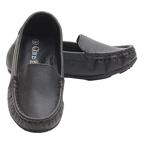 black moccasin loafer casual dress shoe baby toddler boy