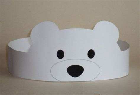polar bear crown printable pinteres