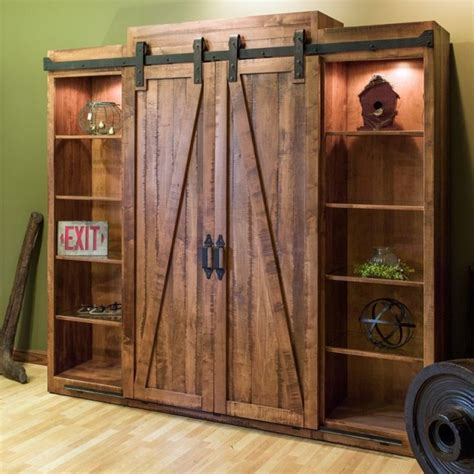 Open The Barn Door Open The Barn Doors For An Entertainment Center And Them For A Bookshelf Brilliant