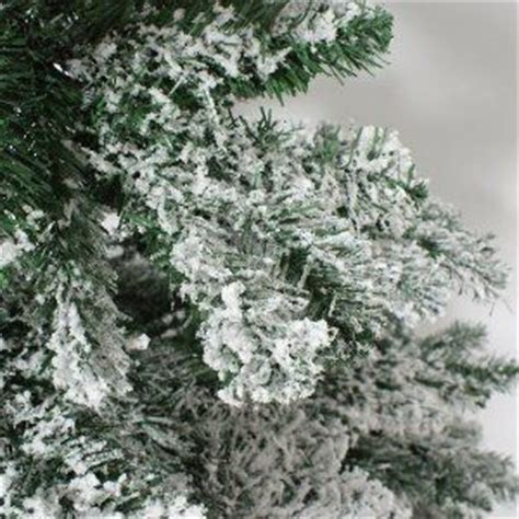 7ft snow covered flocked downswept artificial christmas