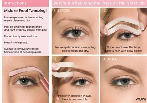 printable eyebrow shapes best eyebrow stencils how to use choose tips for