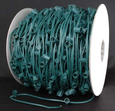 c9 1000 foot green wire bulk spool with 12 quot spacing