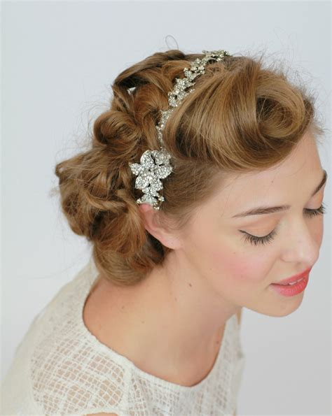 Vintage Wedding Hairstyles With A Headband by Vintage Wedding Hair Accessories Headband