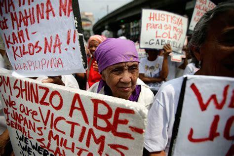 comfort women petition aquino orders report on wwii comfort women