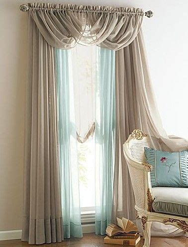 sheer curtain ideas new 4 panels elegance sheer voile curtains with 3 scrafs