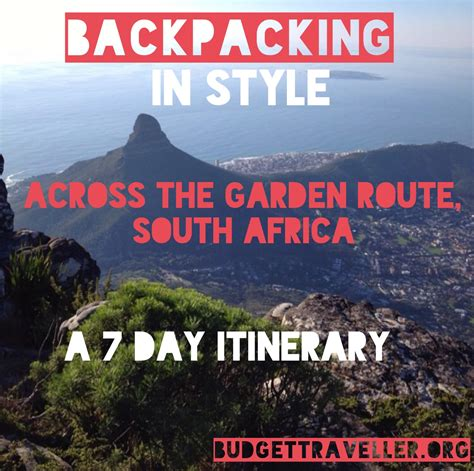 Garden Route Itinerary Ideas Garden Route South Africa Itinerary Home Decorations Idea