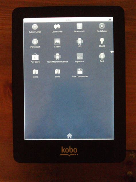 ereader for android new hack lets you install android on the external sd card on kobo aura hd glo and kobo touch