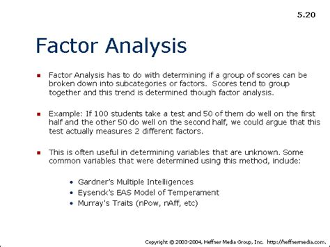 factors in the of twenty two hundred classic reprint books 20 factor analysis allpsych